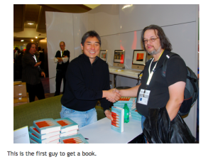 Tim meets Guy Kawasaki at Macworld 2009