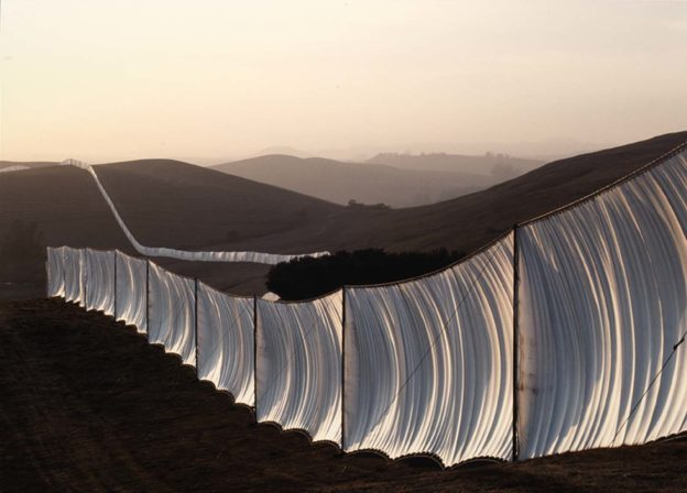 Running Fence by Christo and Jeanne-Claude, 1976